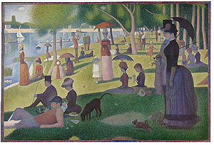 Click here to see the larger photo of A Sunday Afternoon on the Island of La Grando Jatte